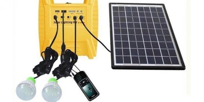 چراغ خورشیدی قابل حمل